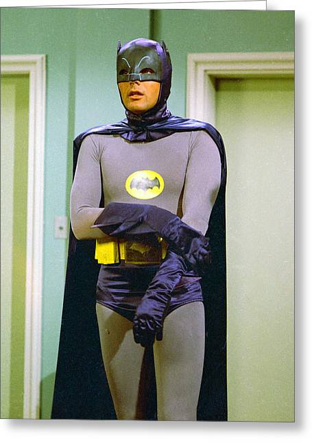 Batman Greeting Cards - Batman  Greeting Card by Silver Screen