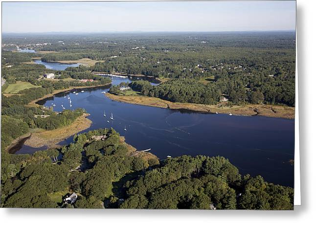 Saco River Greeting Cards - Biddeford, Maine Me Greeting Card by Dave Cleaveland