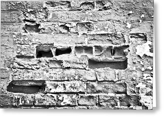 Dilapidated Greeting Cards - Brick wall Greeting Card by Tom Gowanlock