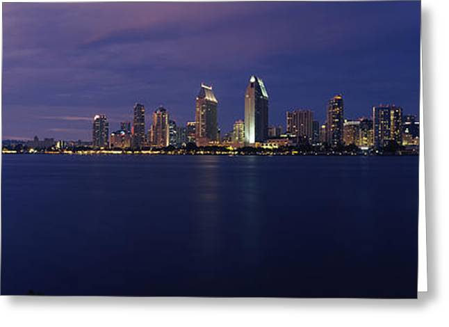 California Ocean Photography Greeting Cards - Buildings At The Waterfront, San Diego Greeting Card by Panoramic Images