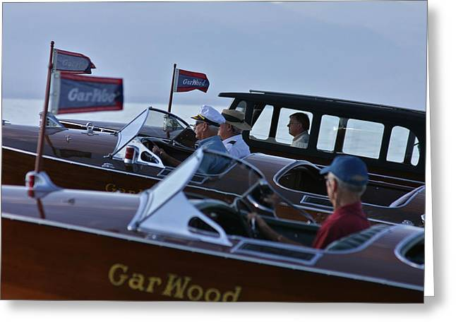 Mahogany Greeting Cards - Classic Gar Wood Greeting Card by Steven Lapkin