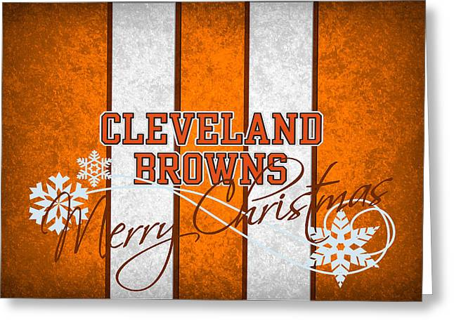 Cleveland Greeting Cards - Cleveland Browns Greeting Card by Joe Hamilton