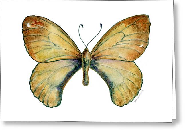 Background Paintings Greeting Cards - 15 Clouded Apollo Butterfly Greeting Card by Amy Kirkpatrick