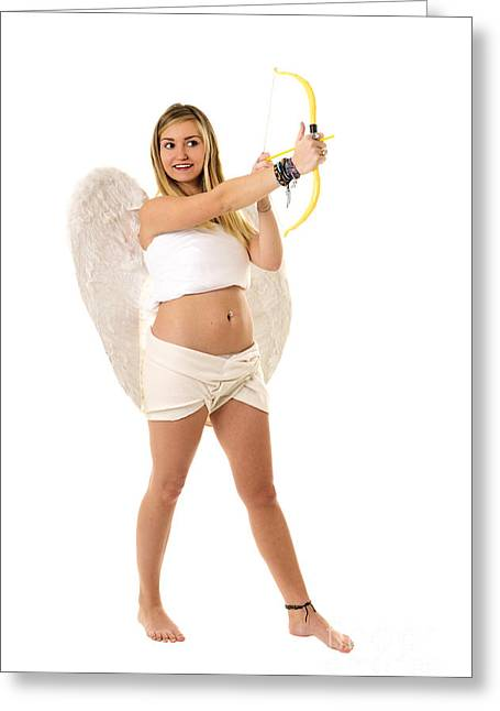 Innocence Greeting Cards - Cupid the god of desire Greeting Card by Ilan Rosen