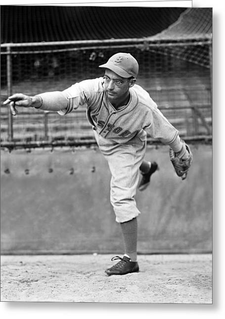Boston Red Sox Greeting Cards - Daniel K. Danny MacFayden Greeting Card by Retro Images Archive