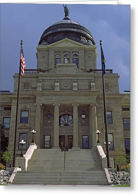 Capitol Greeting Cards - Facade Of A Government Building Greeting Card by Panoramic Images