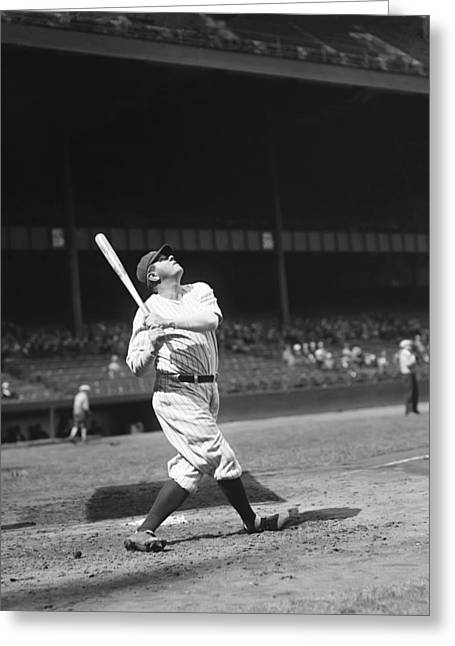 Babe Ruth World Series Greeting Cards - George H. Babe Ruth Greeting Card by Retro Images Archive