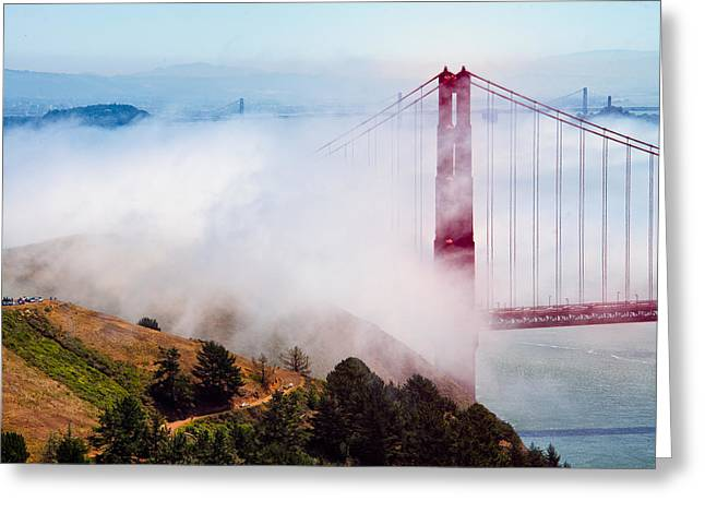North Sea Greeting Cards - Golden Gate Bridge Greeting Card by Celso Diniz