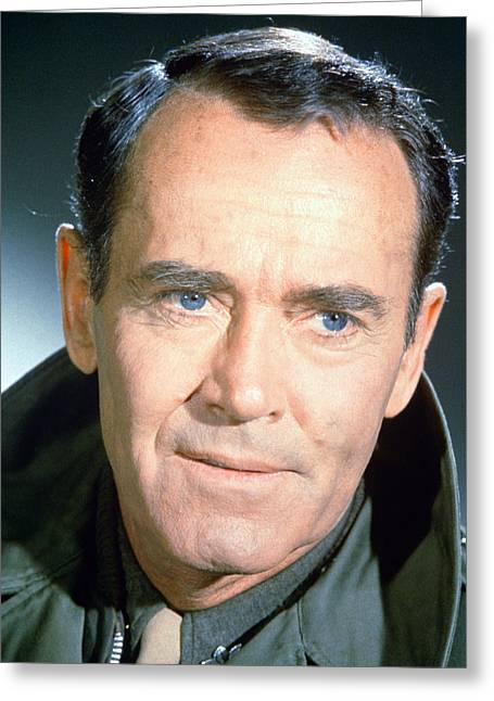 Henry Greeting Cards - Henry Fonda Greeting Card by Silver Screen