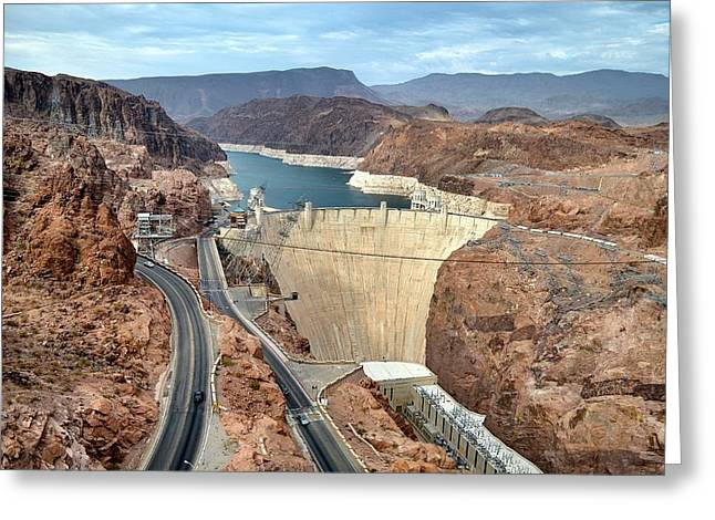 Generators Greeting Cards - 15. Hoover Dam Greeting Card by Maria Jansson
