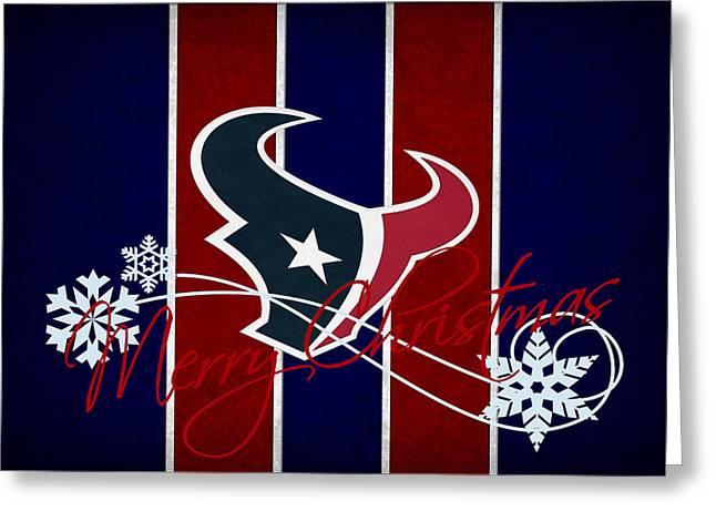 Houston Greeting Cards - Houston Texans Greeting Card by Joe Hamilton