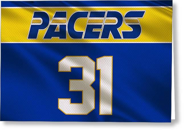 Nba Greeting Cards - Indiana Pacers Uniform Greeting Card by Joe Hamilton