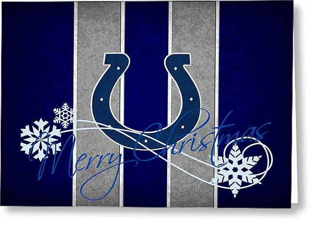 Indianapolis Colts Greeting Card by Joe Hamilton