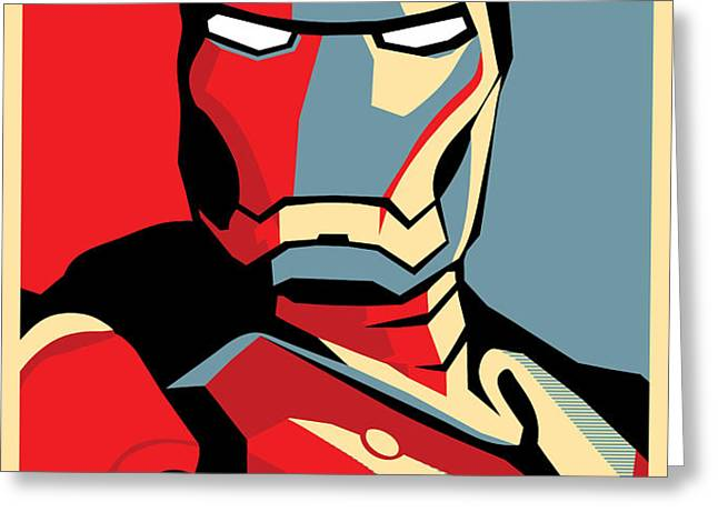 Iron Man Greeting Card by Caio Caldas