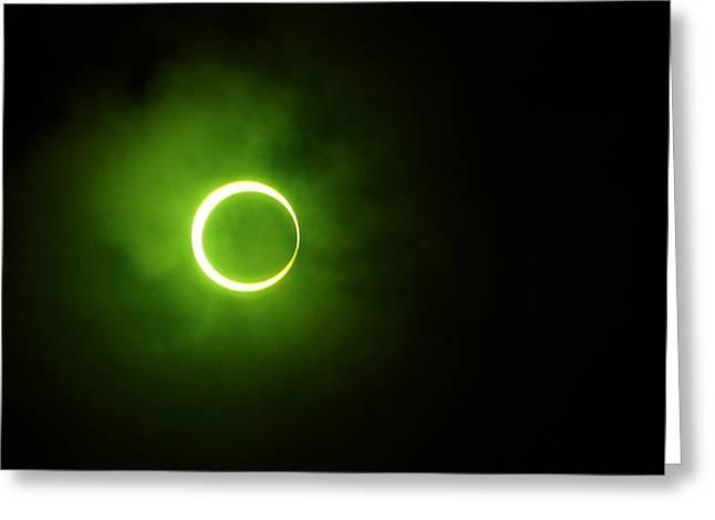 15 January 2010 Solar Eclipse Maldives Greeting Card by Jenny Rainbow