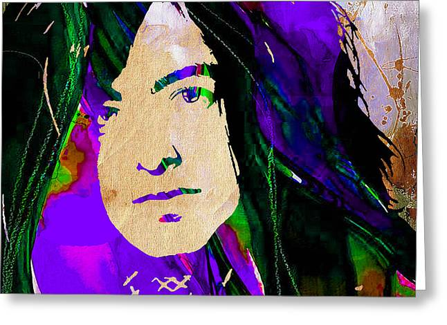 Hip Greeting Cards - Jimmy Page Collection Greeting Card by Marvin Blaine