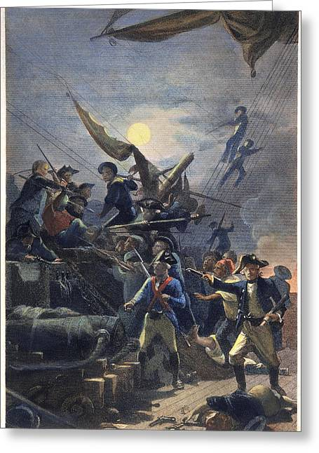 H.m.s Victory Greeting Cards - John Paul Jones (1747-1792) Greeting Card by Granger