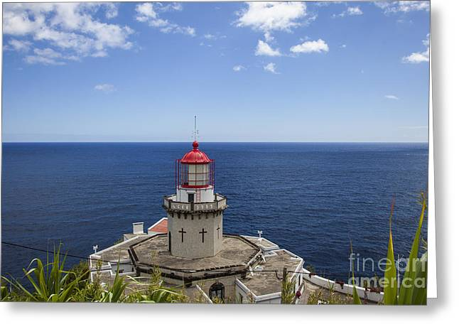 Atlantik Greeting Cards - Lighthouse Greeting Card by Fabian Roessler