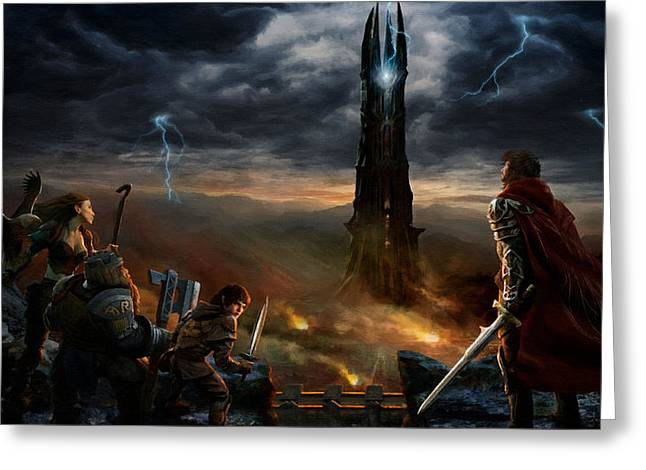 Two Towers Greeting Cards - Lord Of The Rings Movie Greeting Card by Victor Gladkiy