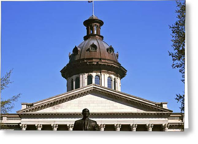Capitol Greeting Cards - Low Angle View Of A Government Greeting Card by Panoramic Images