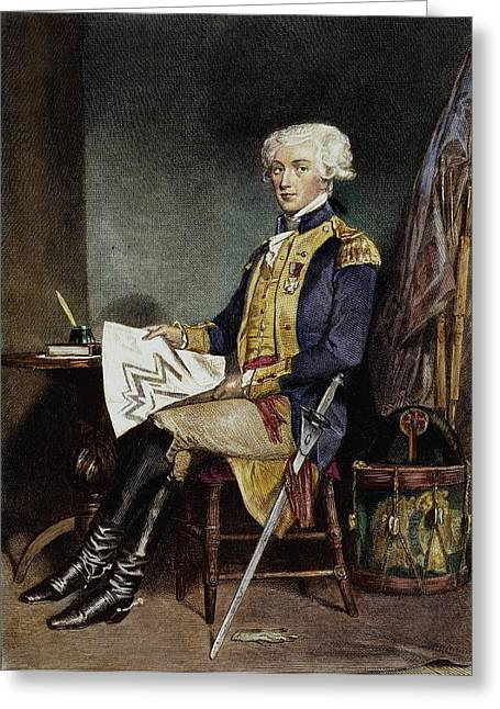 Statesman Greeting Cards - MARQUIS de LAFAYETTE Greeting Card by Granger