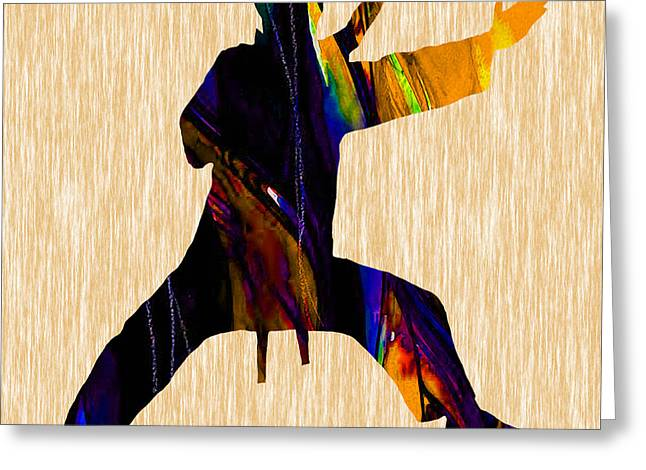 Karate Greeting Cards - Martial Arts Karate Greeting Card by Marvin Blaine