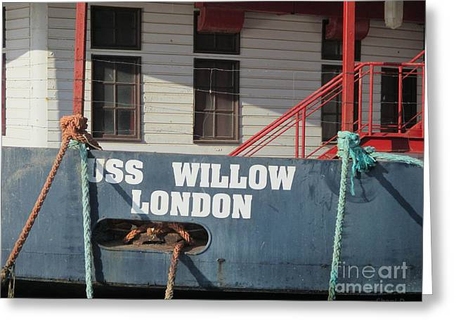 Wooden Ship Greeting Cards - Mississippi Willow Greeting Card by Chani Demuijlder