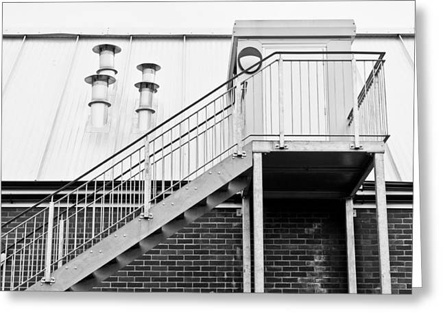 Fume Greeting Cards - Modern building Greeting Card by Tom Gowanlock