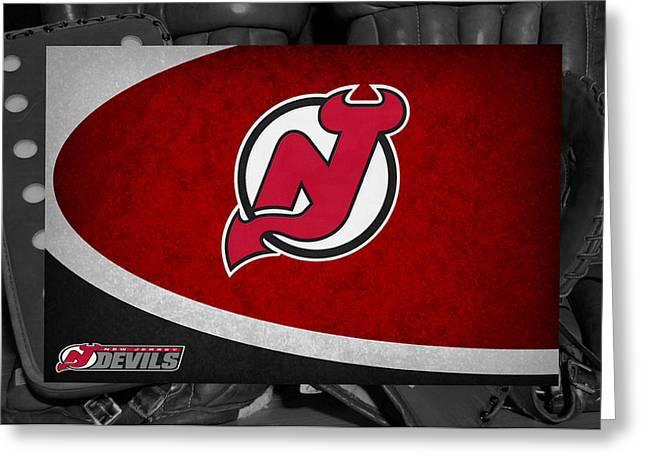 Devil Greeting Cards - New Jersey Devils Greeting Card by Joe Hamilton