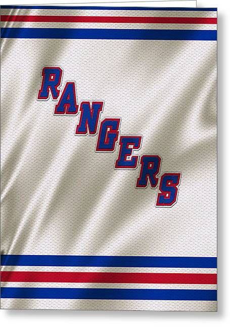 Cup Greeting Cards - New York Rangers Greeting Card by Joe Hamilton
