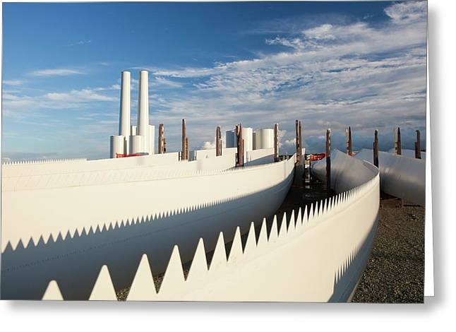 Parts For The Walney Offshore Wind Farm Greeting Card by Ashley Cooper