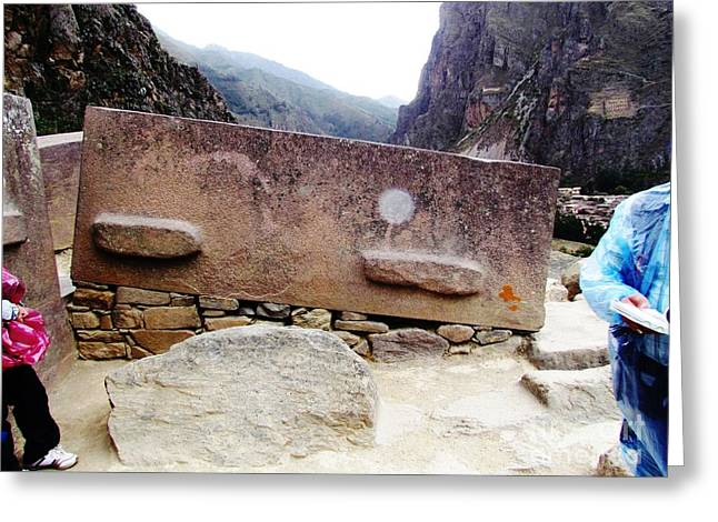 Historic Site Greeting Cards - Peru Ollantaytambo Greeting Card by Ted Pollard