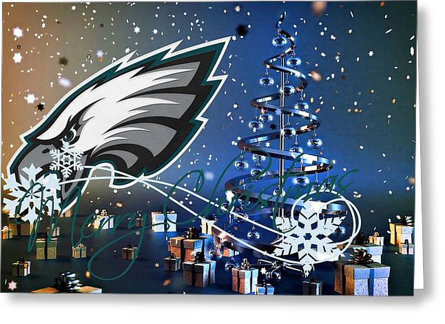 Philadelphia Greeting Cards - Philadelphia Eagles Greeting Card by Joe Hamilton