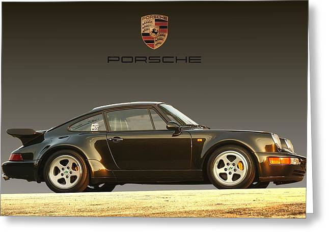 Porsche 911 3.2 Carrera 964 Turbo Greeting Card by Ganesh Krishnan