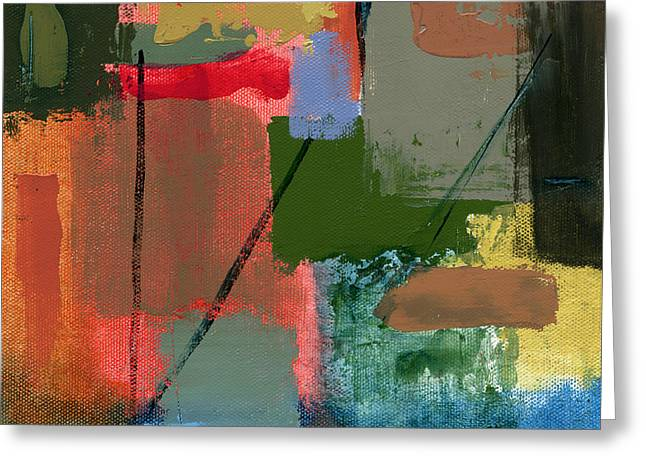 Abstract Art Canvas Paintings Greeting Cards - RCNpaintings.com Greeting Card by Chris N Rohrbach