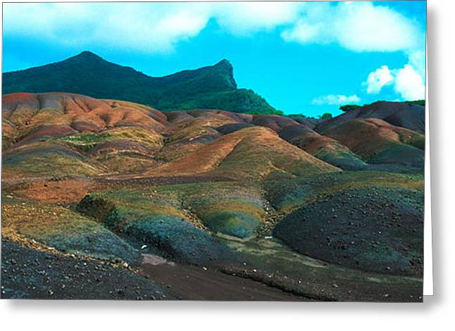 Mauritius Greeting Cards - Rock Formations On A Landscape Greeting Card by Panoramic Images