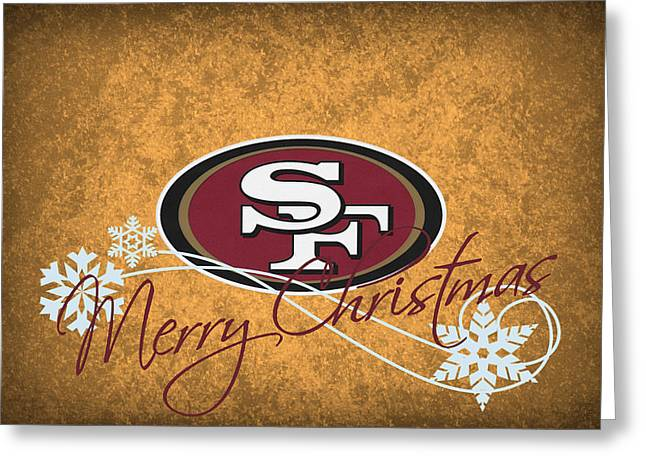Snow Greeting Cards Greeting Cards - San Francisco 49ers Greeting Card by Joe Hamilton