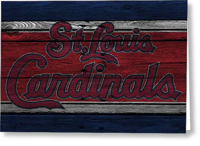 Barn Door Greeting Cards - St Louis Cardinals Greeting Card by Joe Hamilton
