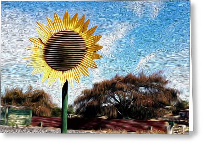 Daisy Greeting Cards - Sunflower Greeting Card by Les Cunliffe