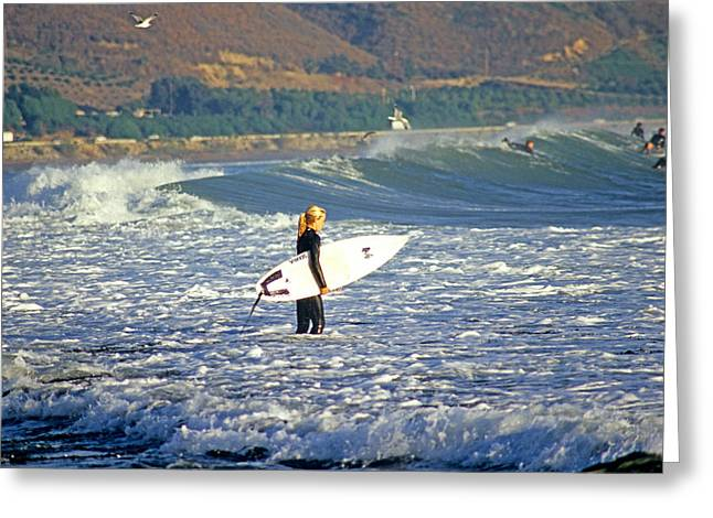 Rincon Point California Greeting Cards - Surfing Greeting Card by Elijah Weber