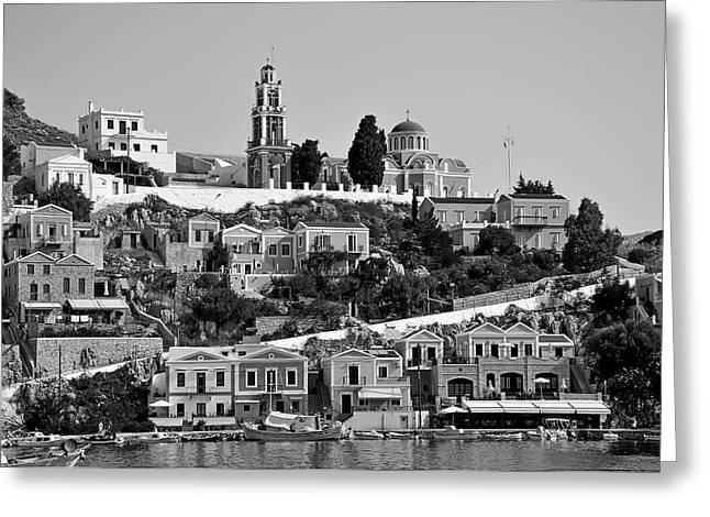 Dodecanese Greeting Cards - Symi island Greeting Card by George Atsametakis
