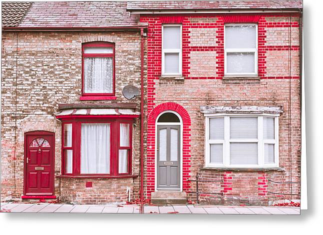 Front St Greeting Cards - Town houses Greeting Card by Tom Gowanlock