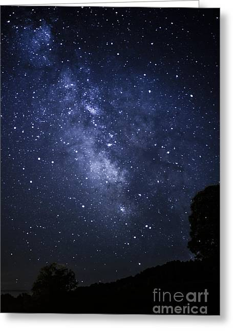 Star Cluster Greeting Cards - Under the Milky Way Greeting Card by Thomas R Fletcher