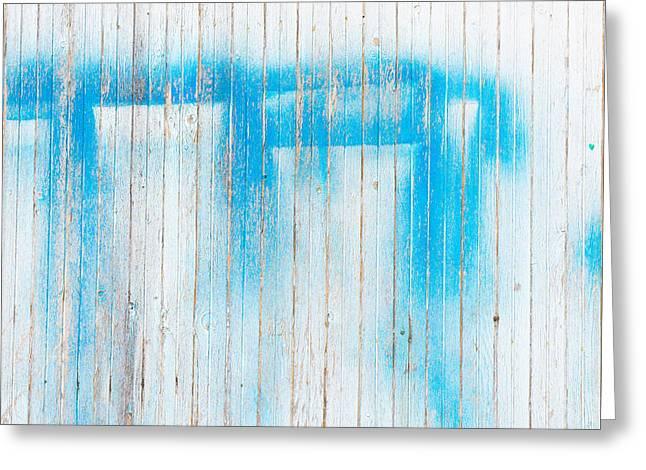 Graffiti Decor Greeting Cards - Wood background Greeting Card by Tom Gowanlock