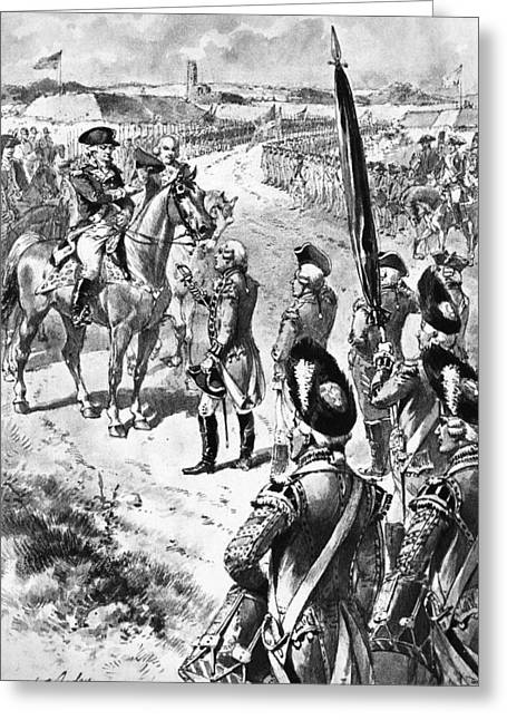 Continental Army Victory Greeting Cards - Yorktown: Surrender, 1781 Greeting Card by Granger