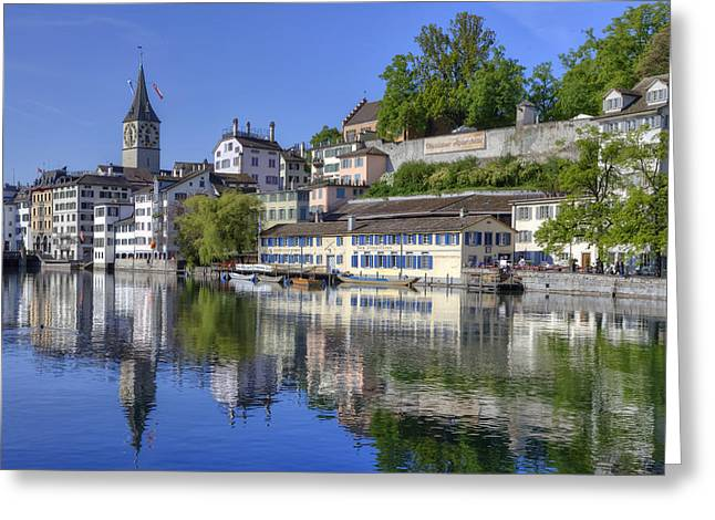 St Peter Greeting Cards - Zurich Greeting Card by Joana Kruse