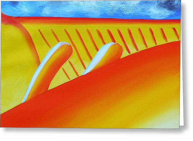 Frist Museum Greeting Cards - 150  Orange Flame Greeting Card by Gregory Otvos