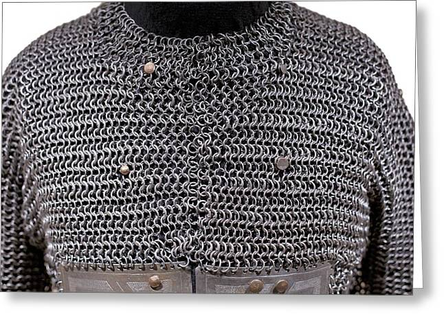 Chain Mail Greeting Cards - 15th Century chainmail armour Greeting Card by Science Photo Library