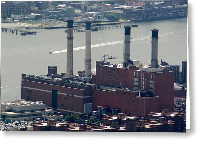 Edison Greeting Cards - 15th Street Power Plant Greeting Card by Martin Jones