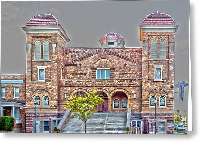 Brock Street Greeting Cards - 16th Street Baptist Church Greeting Card by Tracy Brock